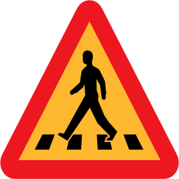 Download free pedestrian triangle road icon