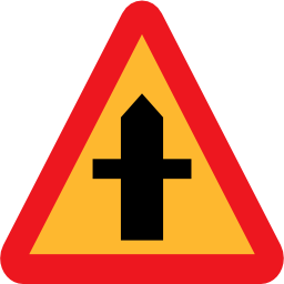 Download free way triangle road crossing icon