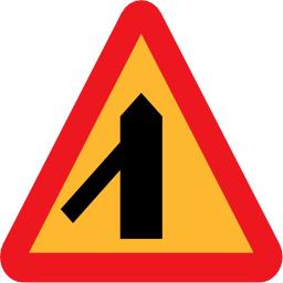 Download free way triangle road priority icon
