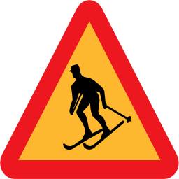 Download free triangle ski road icon