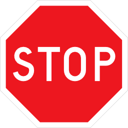 Download free red stop panel icon
