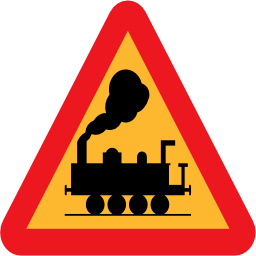 Download free triangle rail train icon