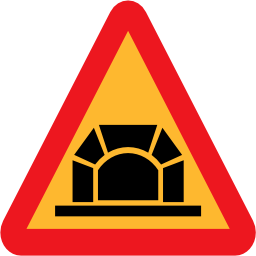 Download free triangle tunnel road icon