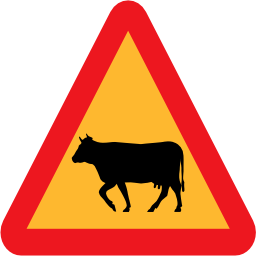 Download free animal cow triangle icon