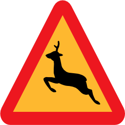 Download free animal triangle deer road icon