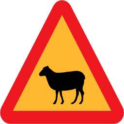 Download free animal sheep triangle icon