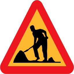 Download free triangle road work site icon