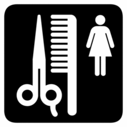 Download free scissors woman comb icon