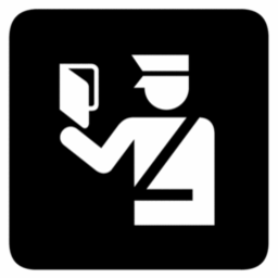 Download free paper customs customs officer policeman icon