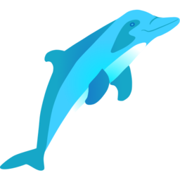 Download free blue animal dolphin icon