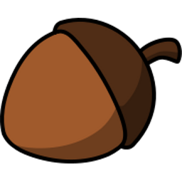Download free brown acorn icon