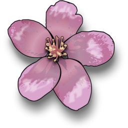 Download free violet apple flower icon