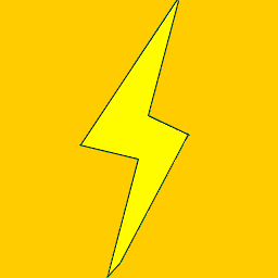 Download free yellow thunderbolt power icon