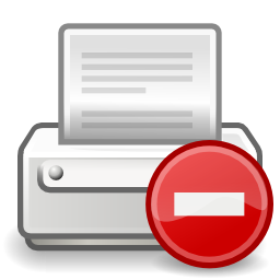 Download free sheet direction prohibited printer icon