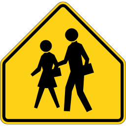 Download free yellow pedestrian school icon