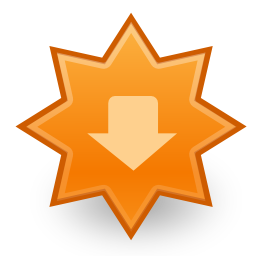Download free orange arrow bottom update icon