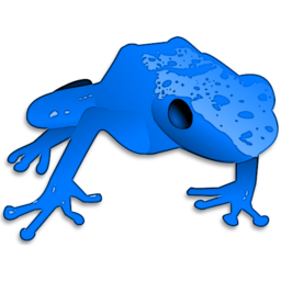 Download free blue animal frog icon