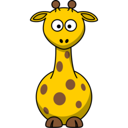Download free yellow animal giraffe icon