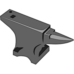 Download free grey anvil icon