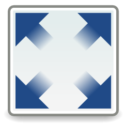 Download free blue arrow screen fullscreen icon