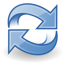 Download free blue arrow actualize refresh icon