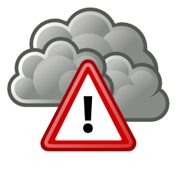 Download free red exclamation dot weather cloud triangle icon
