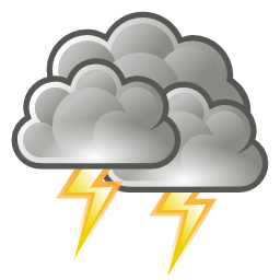 Download free weather cloud thunderbolt thunderstorm icon