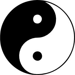 Download free system linux operation whitix yin and yang icon