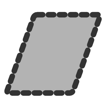 Download free grey parallelogram icon