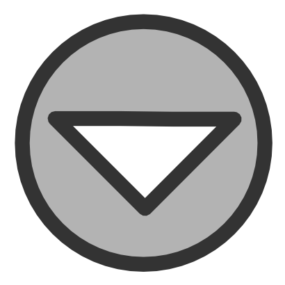 Download free grey round arrow bottom icon