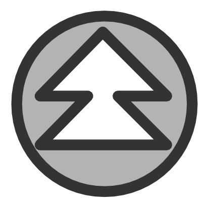 Download free grey round arrow top icon