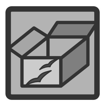 Download free grey square box icon