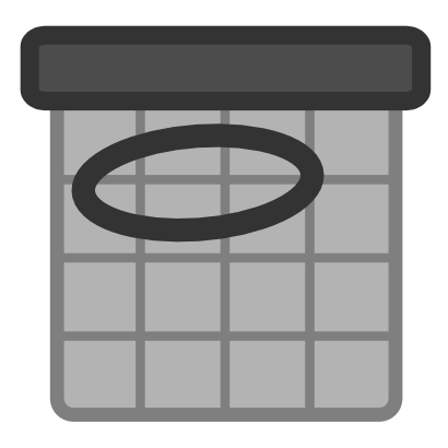 Download free grey calendar circle icon