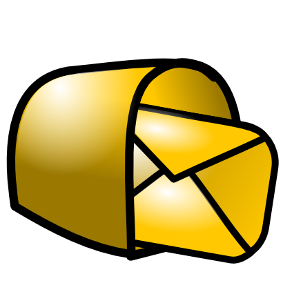 Download free yellow letter courier box icon