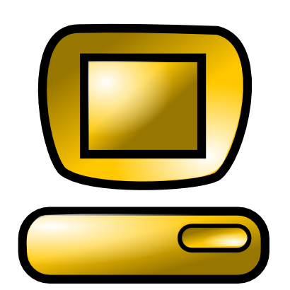 Download free yellow computer icon