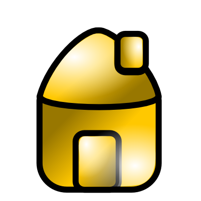 Download free yellow house icon