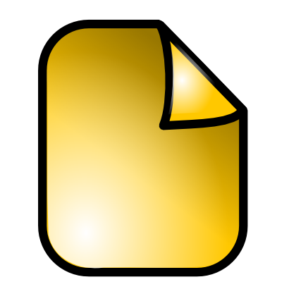 Download free yellow sheet icon