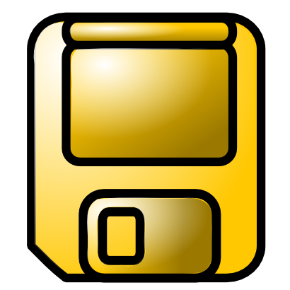 Download free yellow floppy icon