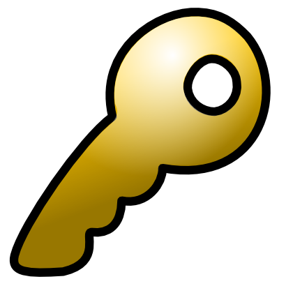 Download free yellow key icon