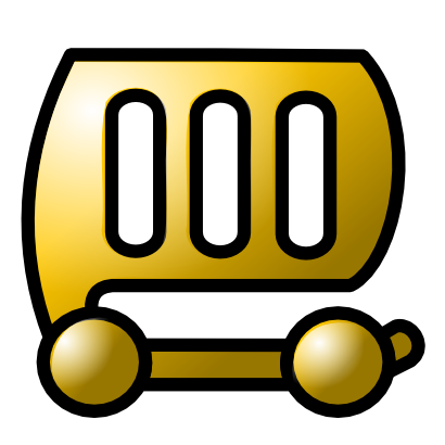 Download free yellow trolley icon