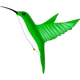 Download free green animal bird fly icon