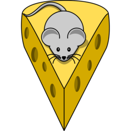Download free yellow mouse grey animal cheese icon
