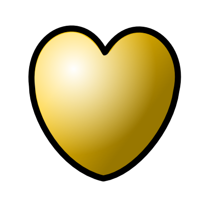 Download free yellow heart icon