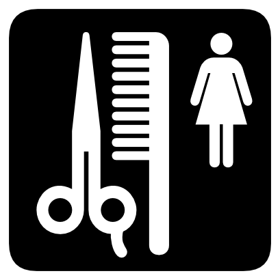 Download free scissors woman comb person icon
