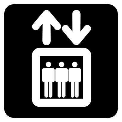 Download free arrow lift person icon