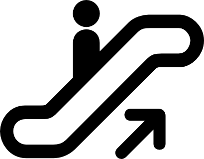 Download free arrow person escalator icon