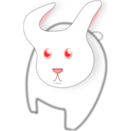 Download free red eye animal white rabbit icon