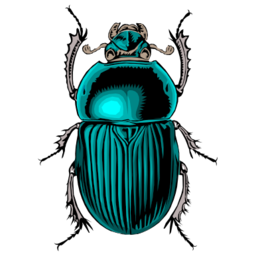 Download free blue animal beetle insect icon