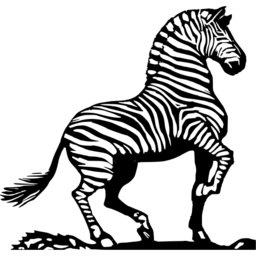 Download free animal black white zebra icon