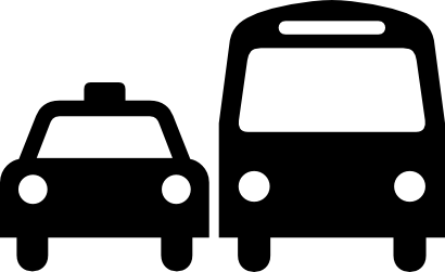 Download free car bus motorbus autobus taxi icon
